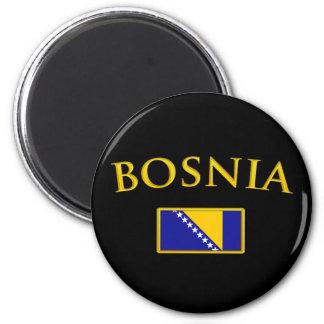 Golden Bosnia 6 Cm Round Magnet