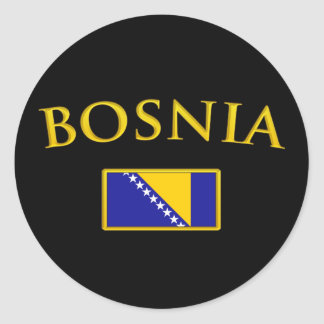 Golden Bosnia Classic Round Sticker
