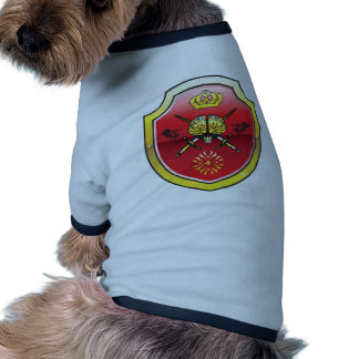 Golden brain. Shield with swords. Royal mind. Ringer Dog Shirt