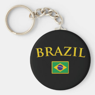 Golden Brazil Key Ring