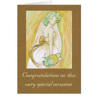 Golden Bride Card