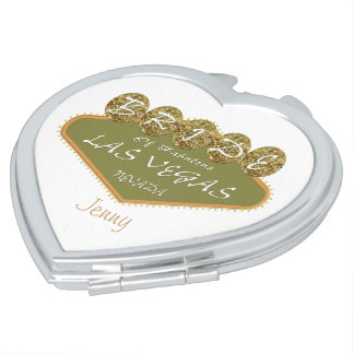 Golden Bride Las Vegas Keepsake Compact Mirror