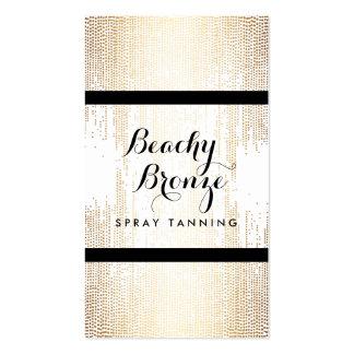 Golden Bronze Confetti Dots Spray Tanning Salon Pack Of Standard Business Cards
