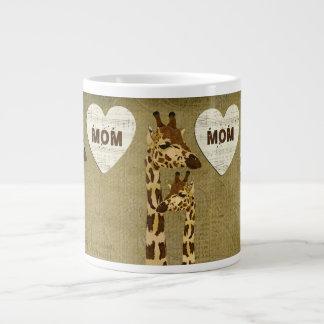 Golden Bronze Giraffes Mom Mug Jumbo Mug