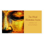 Golden Bronze Statue of the Buddhas Face Pack Of Standard Business Cards