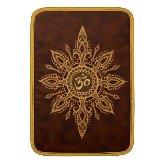 Golden Brown Aum Star MacBook Air Sleeves
