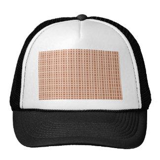 Golden Brown Checks Artist created elegant pattern Trucker Hats