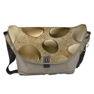 Golden brown gems Large Messenger Bag OutsidePrint
