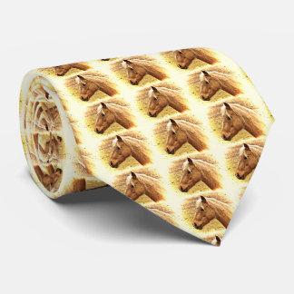 Golden Brown Horses in Sun Tie