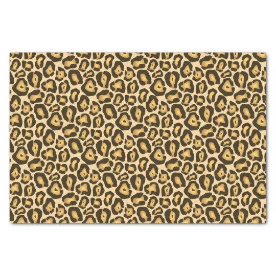 Golden Brown Jaguar Wild Animal Print Pattern Tissue