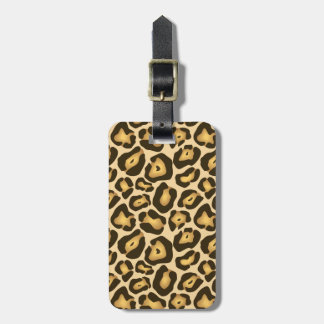 Golden Brown Jaguar Wild Animal Skin Pattern Luggage Tag