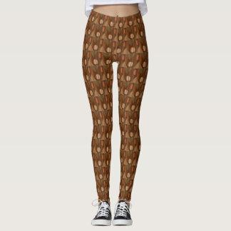 Golden Brown Multi-Print Leggings