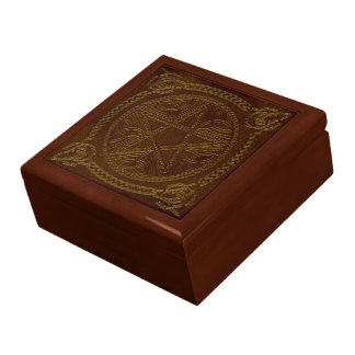 Golden Brown Pentagram & Celtic Knots - Gift Box 2