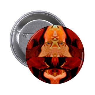 Golden Brown Spirit World - Healing Patterns V1 6 Cm Round Badge