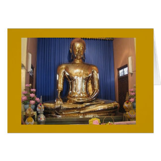 Golden Budda - Thailand Card