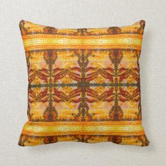Golden Buddha Art Pillow by Deprise