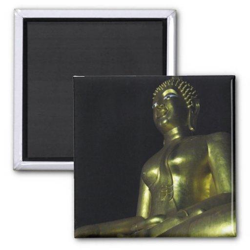 Golden Buddha at Night Refrigerator Magnet