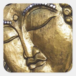 Golden Buddha Blessing Inspirational Love Square Sticker