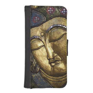 Golden Buddha Blessing Inspirational Wallet Case