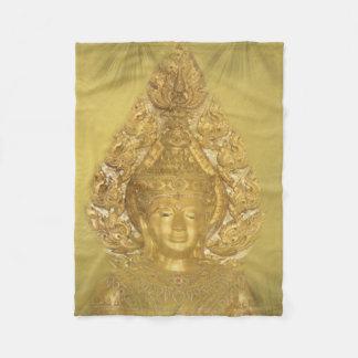 golden buddha fleese blanket
