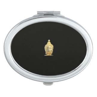 golden buddha in black makeup mirrors
