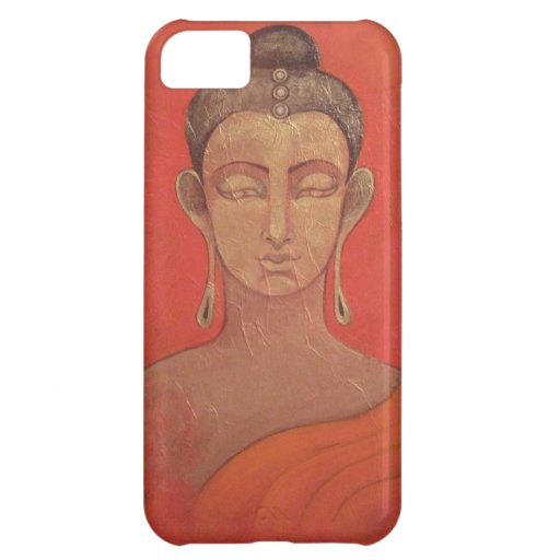 Golden Buddha in Orange Cover For iPhone 5C