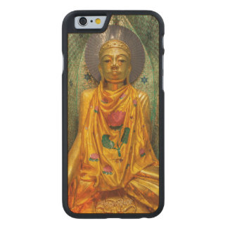 Golden Buddha In Temple Carved Maple iPhone 6 Case