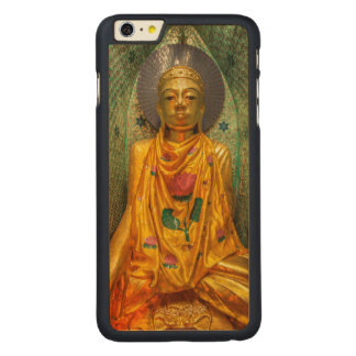 Golden Buddha In Temple Carved Maple iPhone 6 Plus Case