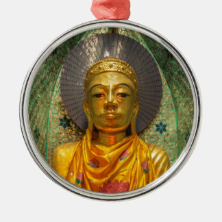 Golden Buddha In Temple Christmas Ornament