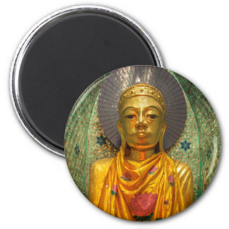 Golden Buddha In Temple Magnet