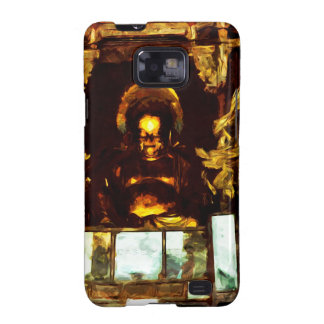 Golden Buddha Kyoto Japan Abstract Impressionism Samsung Galaxy S2 Cover