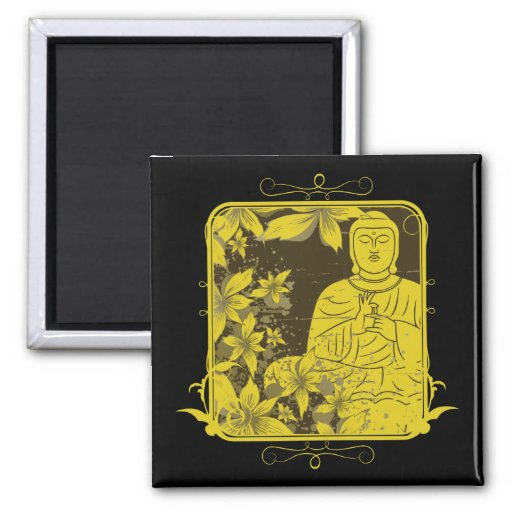 Golden Buddha Magnets