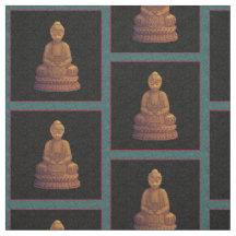 Golden Buddha Pixel Art
