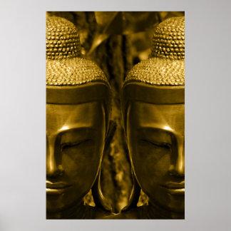 Golden Buddha Poster Print
