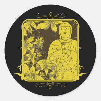 Golden Buddha Round Sticker