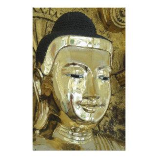 Golden Buddha Statue Inspirational Love Customized Stationery