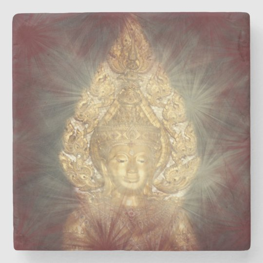 golden buddha stone coaster