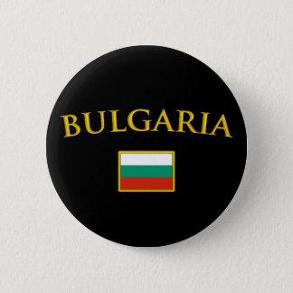 Golden Bulgaria 6 Cm Round Badge