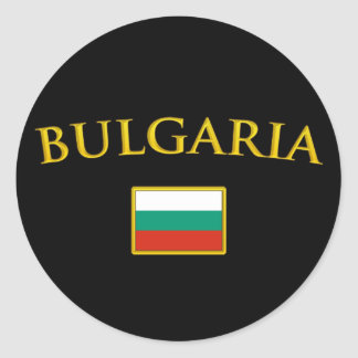 Golden Bulgaria Classic Round Sticker