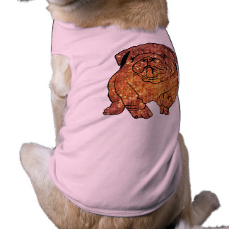 Golden Bulldog Doggie Ribbed Tank Top