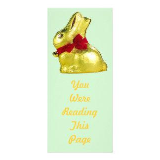 Golden Bunny Bookmark Template Rack Cards