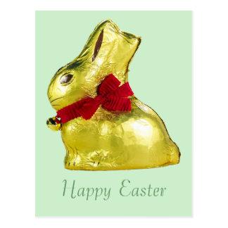 Golden Bunny Easter Postcard