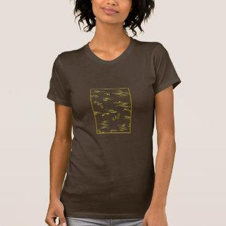 Golden butterflies and wind (japanese design) T-Shirt