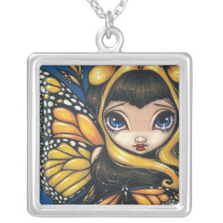 Golden Butterflies NECKLACE butterfly fairy
