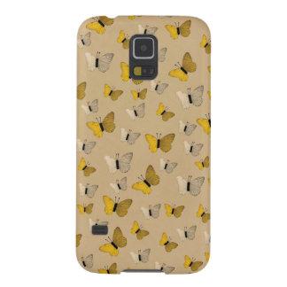 Golden Butterflies Rustic Gold Yellow Butterfly Galaxy S5 Cover