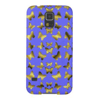 Golden Butterflies Spiral Pattern Galaxy S5 Cover