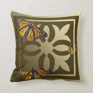 Golden Butterfly American Mo-Jo Throw Pillow Cushion