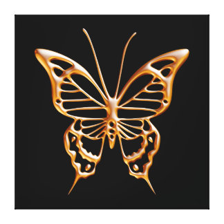 Golden Butterfly Canvas Prints