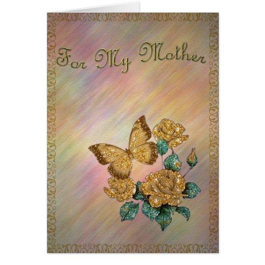 Golden Butterfly Card