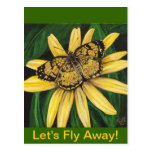Golden Butterfly Card Post Cards